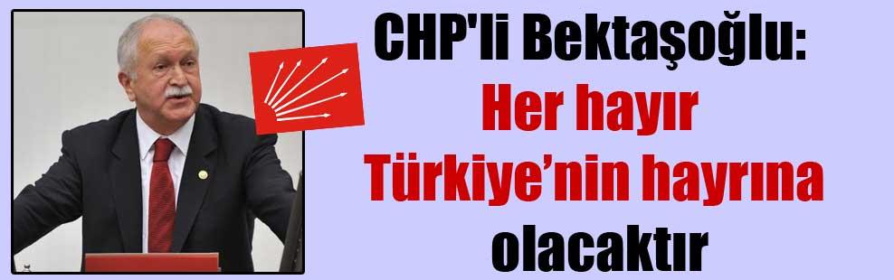 CHP'li Bektaşoğlu: Her hayır Türkiye'nin hayrına olacaktır