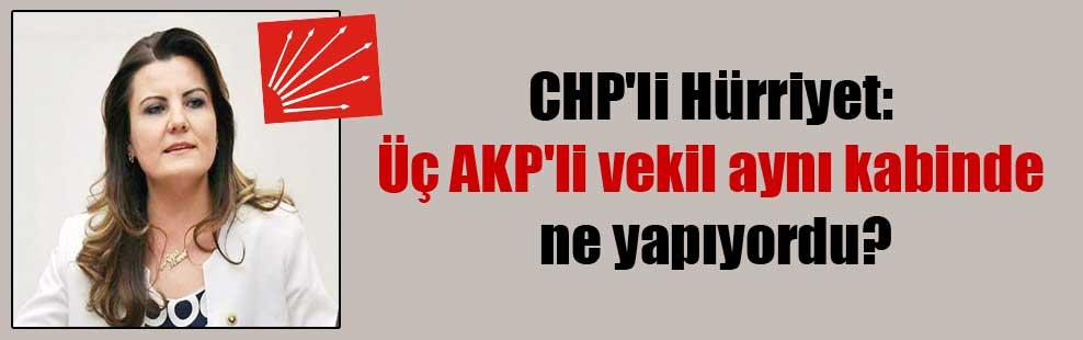 CHP'li Hürriyet: Üç AKP'li vekil aynı kabinde ne yapıyordu?