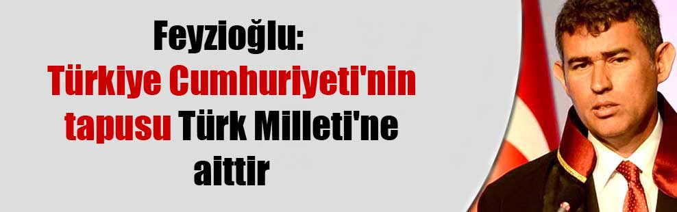 Feyzioğlu: Türkiye Cumhuriyeti'nin tapusu Türk Milleti'ne aittir