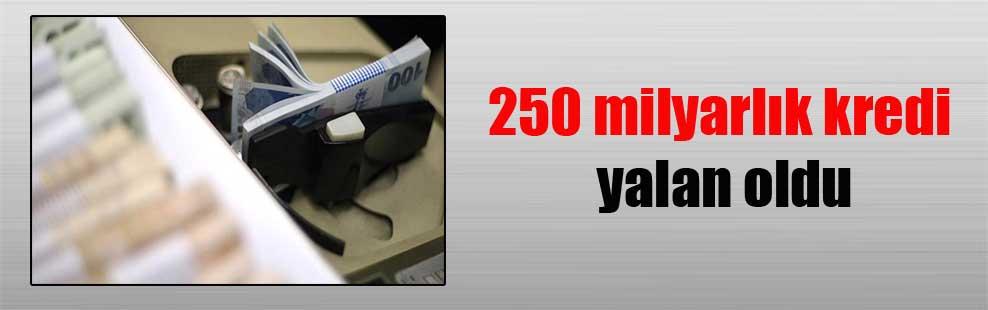 250 milyarlık kredi yalan oldu