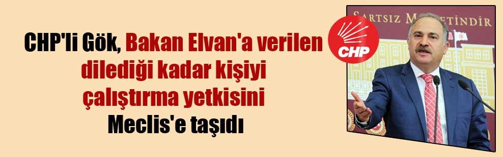 CHP'li Gök, Bakan Elvan'a verilen dilediği kadar kişiyi çalıştırma yetkisini Meclis'e taşıdı