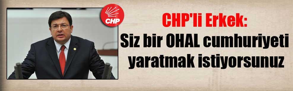 CHP'li Erkek: Siz bir OHAL cumhuriyeti yaratmak istiyorsunuz