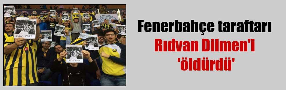 Fenerbahçe taraftarı Rıdvan Dilmen'i 'öldürdü'