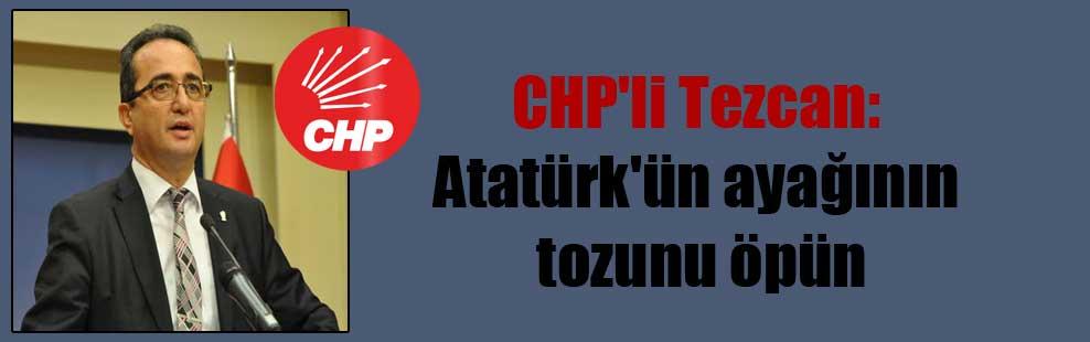 CHP'li Tezcan: Atatürk'ün ayağının tozunu öpün
