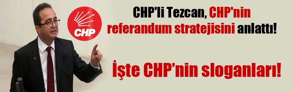 CHP'li Tezcan, CHP'nin referandum stratejisini anlattı!