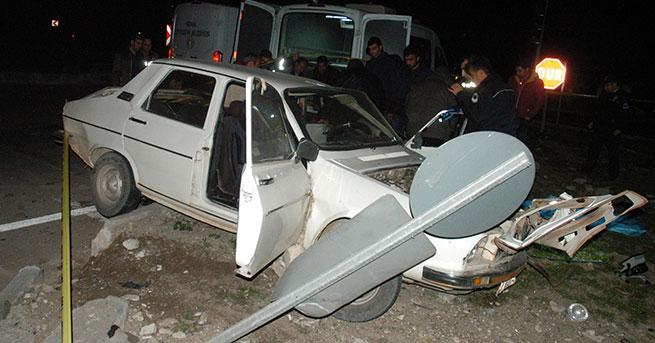 Cenaze dönüşü kaza: 3 ölü, 1 yaralı