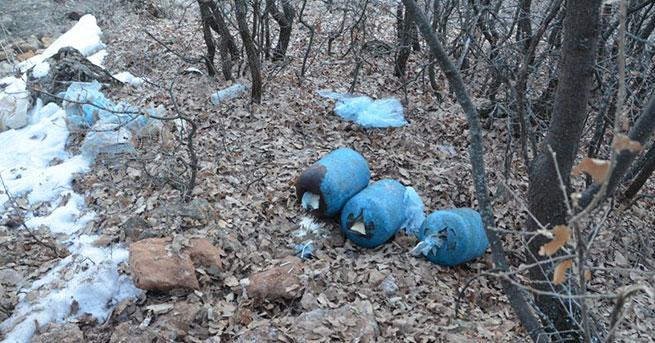 PKK'nın tuzakladığı150 kiloluk patlayıcı imha edildi
