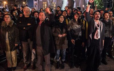 Fenerbahçe ve Beşiktaşlı taraftarlardan Müjdat Gezen'e destek