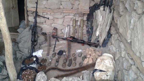 Bingöl'de PKK cephaneliği bulundu
