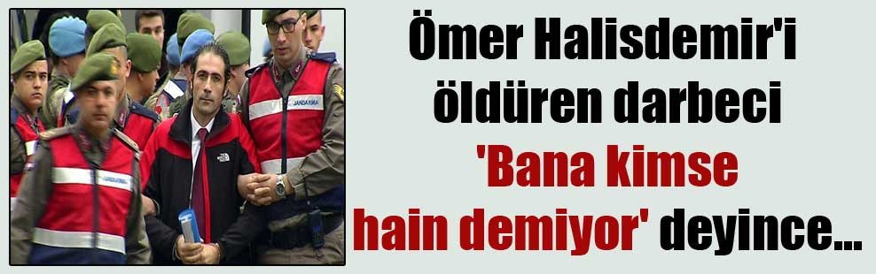 Ömer Halisdemir'i öldüren darbeci 'Bana kimse hain demiyor' deyince…