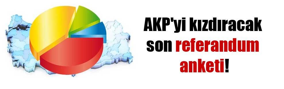 AKP'yi kızdıracak son referandum anketi!