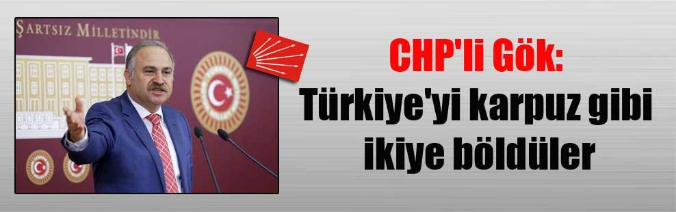 CHP'li Gök: Türkiye'yi karpuz gibi ikiye böldüler
