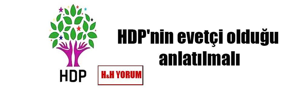 HDP'nin evetçi olduğu anlatılmalı