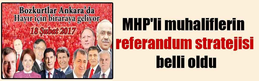 MHP'li muhaliflerin referandum stratejisi belli oldu