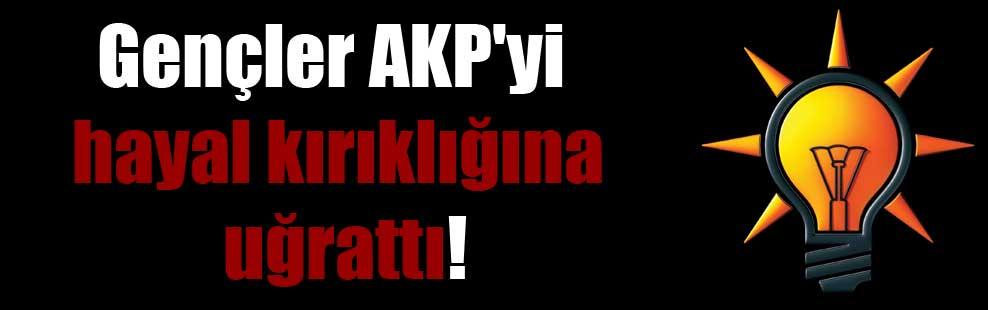 Gençler AKP'yi hayal kırıklığına uğrattı!