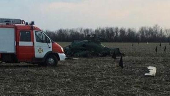 Ukrayna'da helikopter düştü: Beş ölü