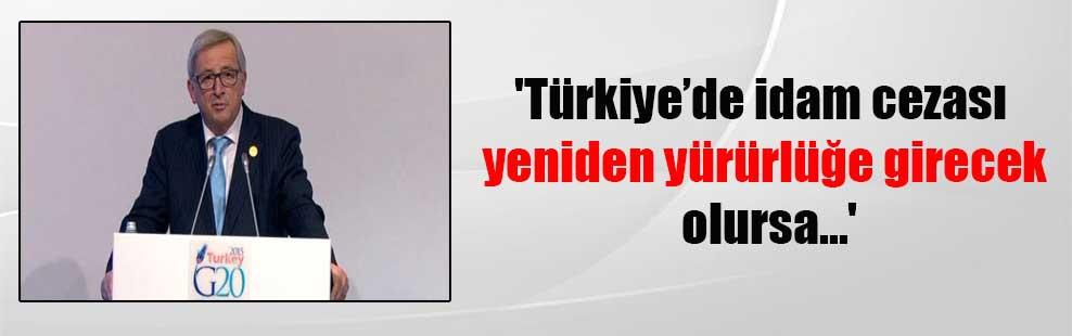 'Türkiye'de idam cezası yeniden yürürlüğe girecek olursa…'