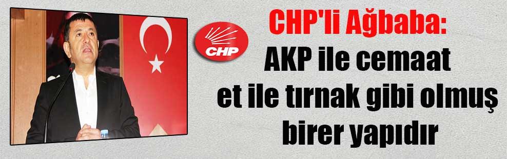 CHP'li Ağbaba: AKP ile cemaat et ile tırnak gibi olmuş birer yapıdır