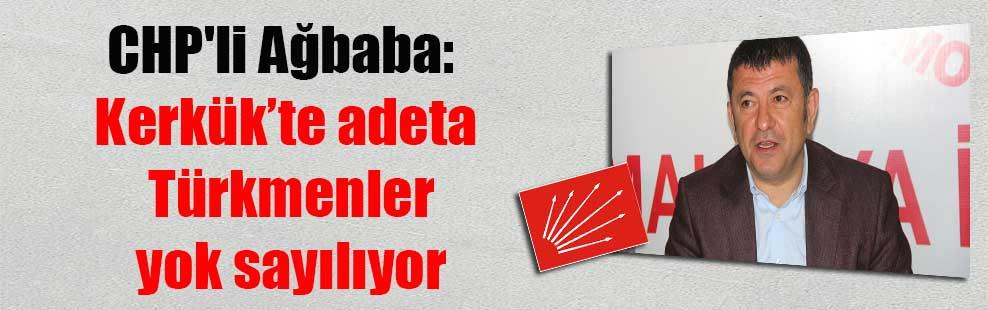 CHP'li Ağbaba: Kerkük'te adeta Türkmenler yok sayılıyor