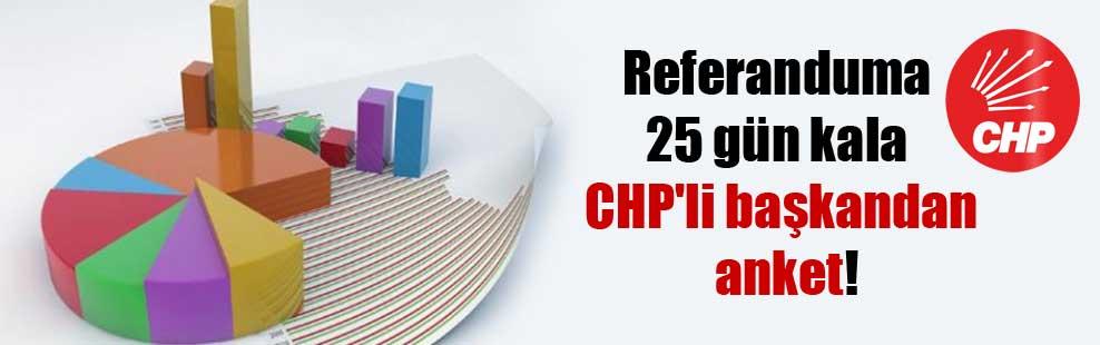 Referanduma 25 gün kala CHP'li başkandan anket!