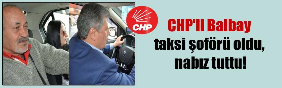 CHP'li Balbay taksi şoförü oldu, nabız tuttu!
