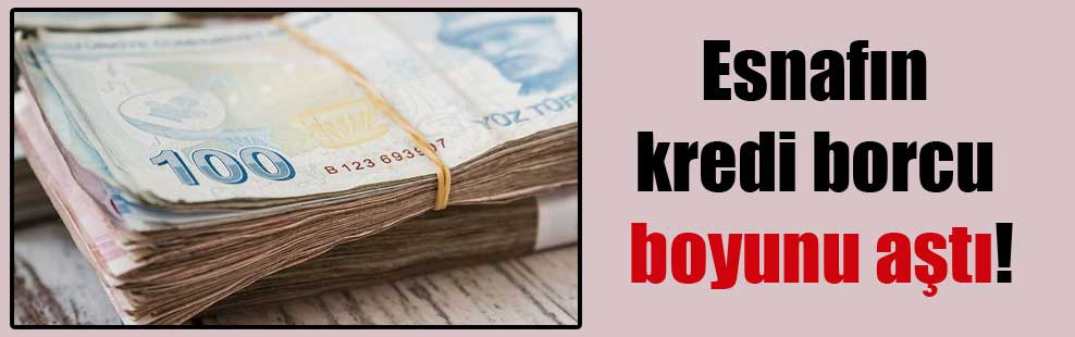 Esnafın kredi borcu boyunu aştı!