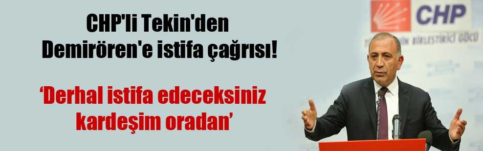 CHP'li Tekin'den Demirören'e istifa çağrısı!