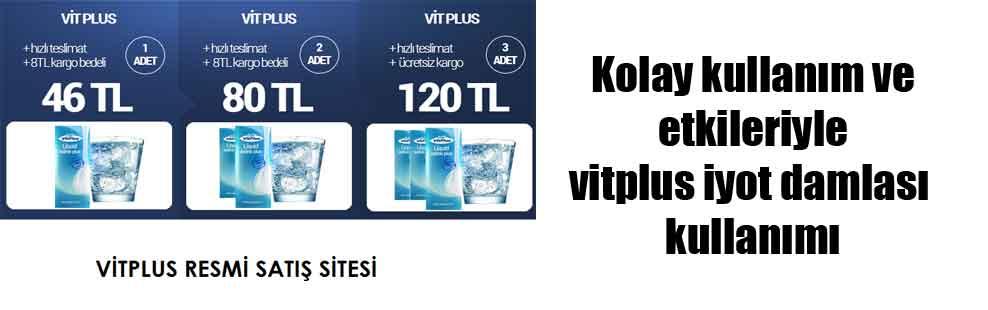 Kolay kullanım ve etkileriyle vitplus iyot damlası kullanımı