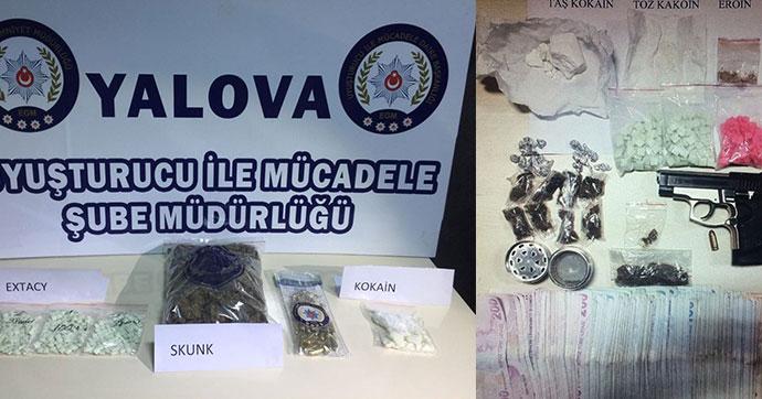 Şans oyunu talihlileri uyuşturucu satarken yakalandı