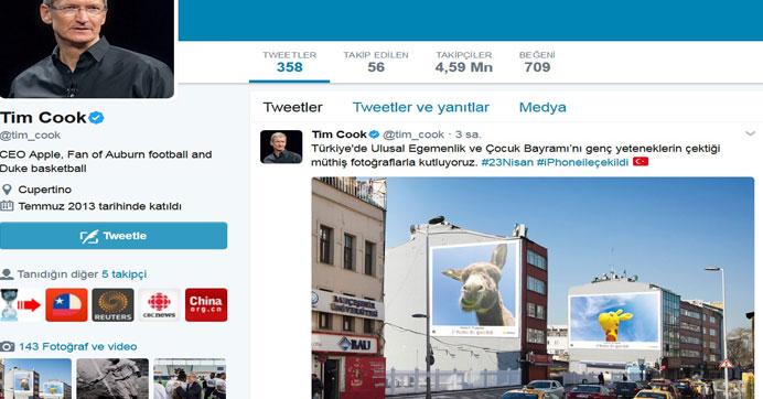 Apple'ın CEO'sundan Türkçe 23 Nisan mesajı