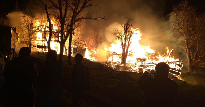 Köyde yangın kâbusu: 50 ev kül oldu