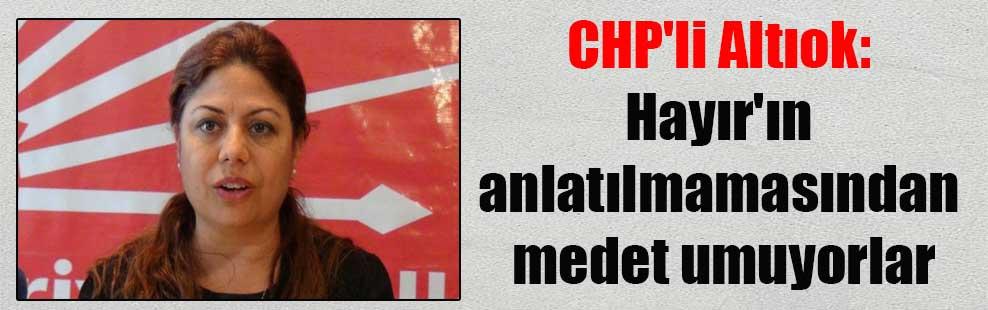 CHP'li Altıok: Hayır'ın anlatılmamasından medet umuyorlar