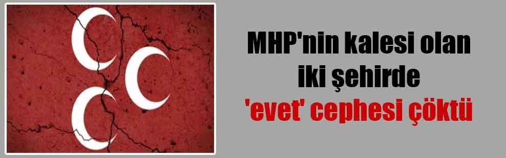 MHP'nin kalesi olan iki şehirde 'evet' cephesi çöktü