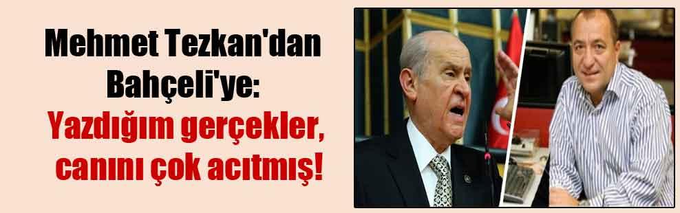 Mehmet Tezkan'dan Bahçeli'ye: Yazdığım gerçekler, canını çok acıtmış!