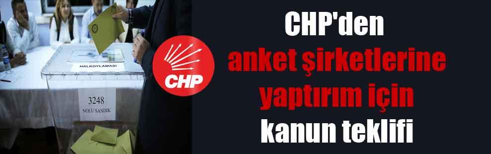 CHP'den anket şirketlerine yaptırım için kanun teklifi