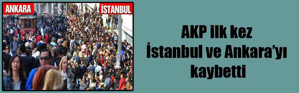 AKP ilk kez İstanbul ve Ankara'yı kaybetti