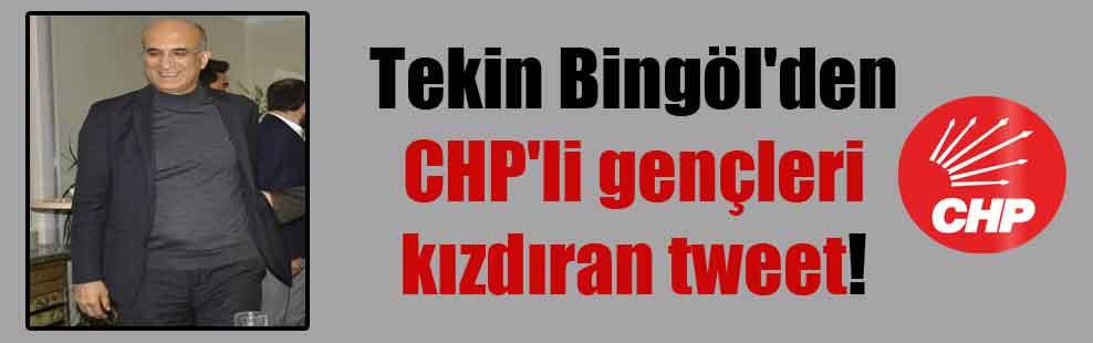 Tekin Bingöl'den CHP'li gençleri kızdıran tweet!