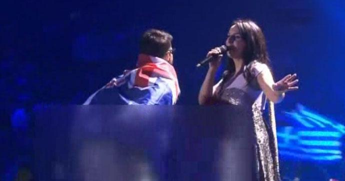 Eurovision eylemcisinin ilk olayı değilmiş