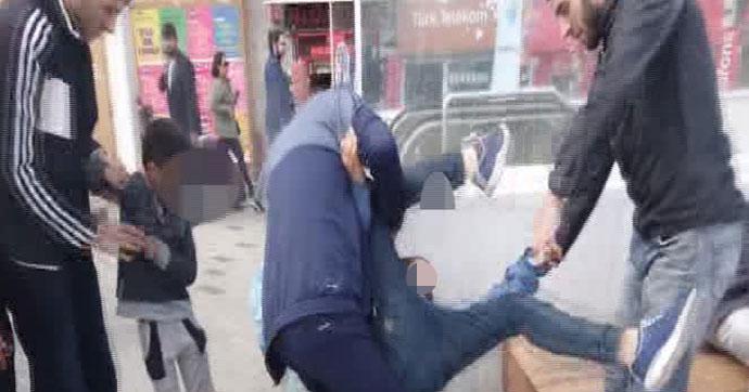 Taksim'de yürek parçalayan görüntüler
