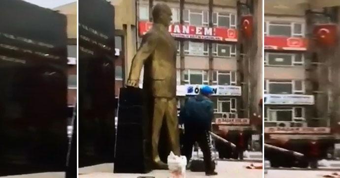 Atatürk anıtına saldırıyla ilgili yeni gelişme