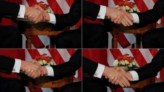 Macron, Trump ile el sıkışma hadisesine açıklık getirdi