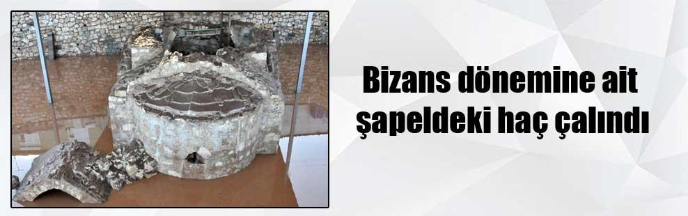 Bizans dönemine ait şapeldeki haç çalındı