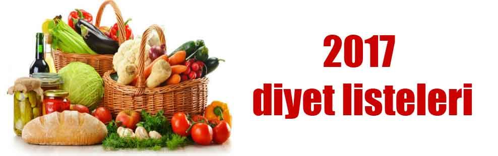 2017 diyet listeleri
