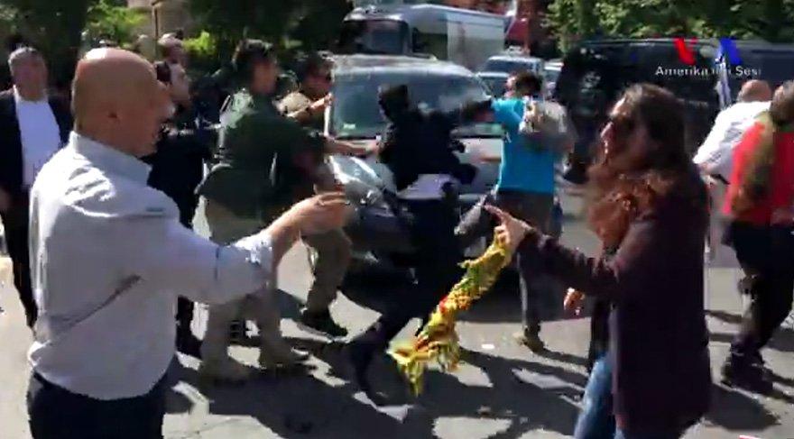 Cumhurbaşkanı Erdoğan'ın korumaları ABD'de kavgaya karıştı