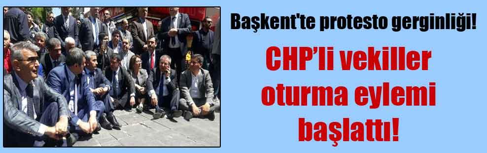Başkent'te protesto gerginliği!