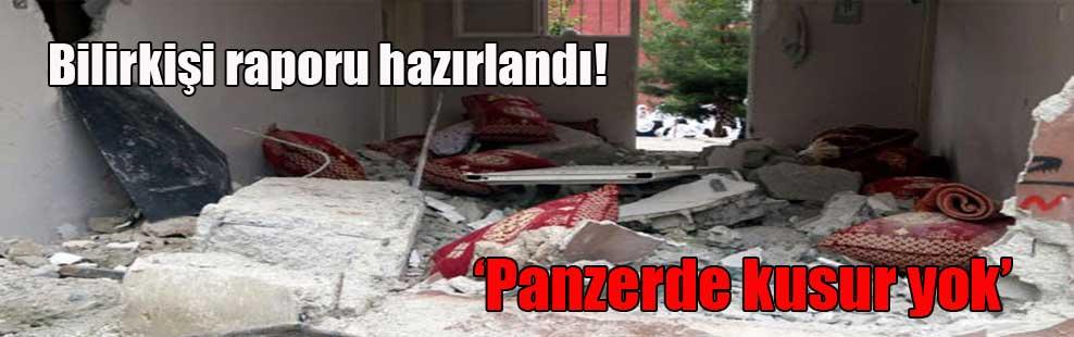 Bilirkişi raporu hazırlandı! 'Panzerde kusur yok'