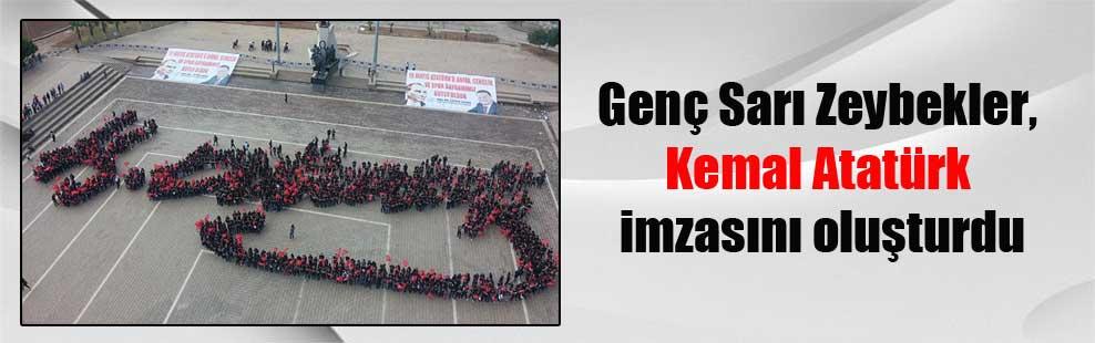 Genç Sarı Zeybekler, Kemal Atatürk imzasını oluşturdu