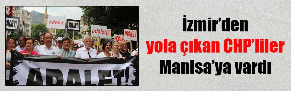 İzmir'den yola çıkan CHP'liler Manisa'ya vardı