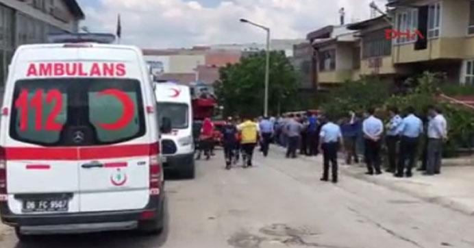 Ankara'da bir işyerinde patlama!