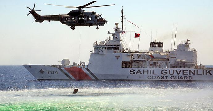 KKTC Akdeniz açıklarındaki tatbikat göz doldurdu